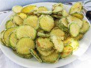 Kolokithakia Tiganita – tranches de courgettes frites