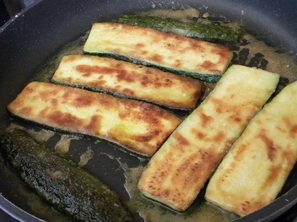 Recette Courgettes frites