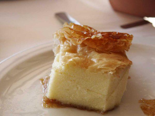 Galaktoboureko – dessert grec à base de semoule et de pâte filo