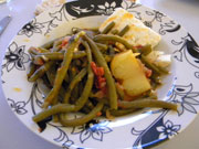 Ladera fassolakia – haricots à l'huile d'olive