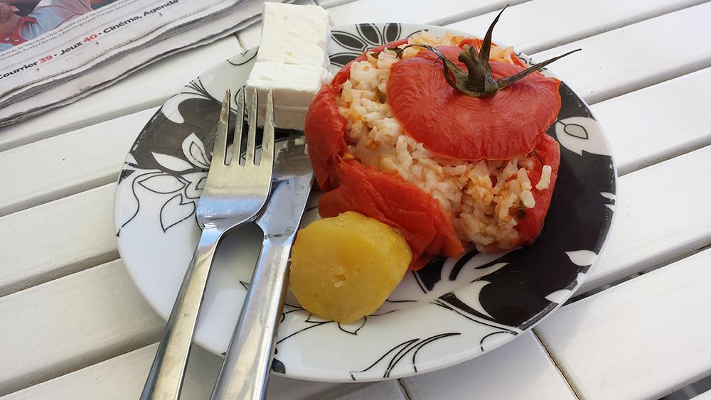 Recette grecque des tomates farcies
