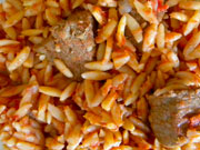 Youvetsi – ragoût de boeuf avec petites pâtes
