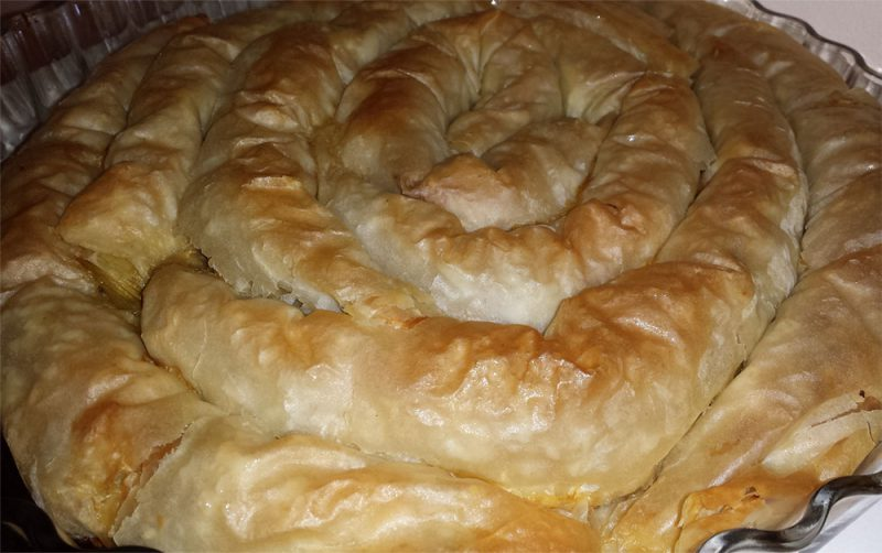 Strifti prasopita - recette grecque