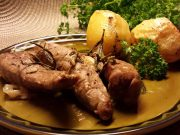 Arni fileto sto fourno me patates – filets d'agneau au four avec pommes de terre